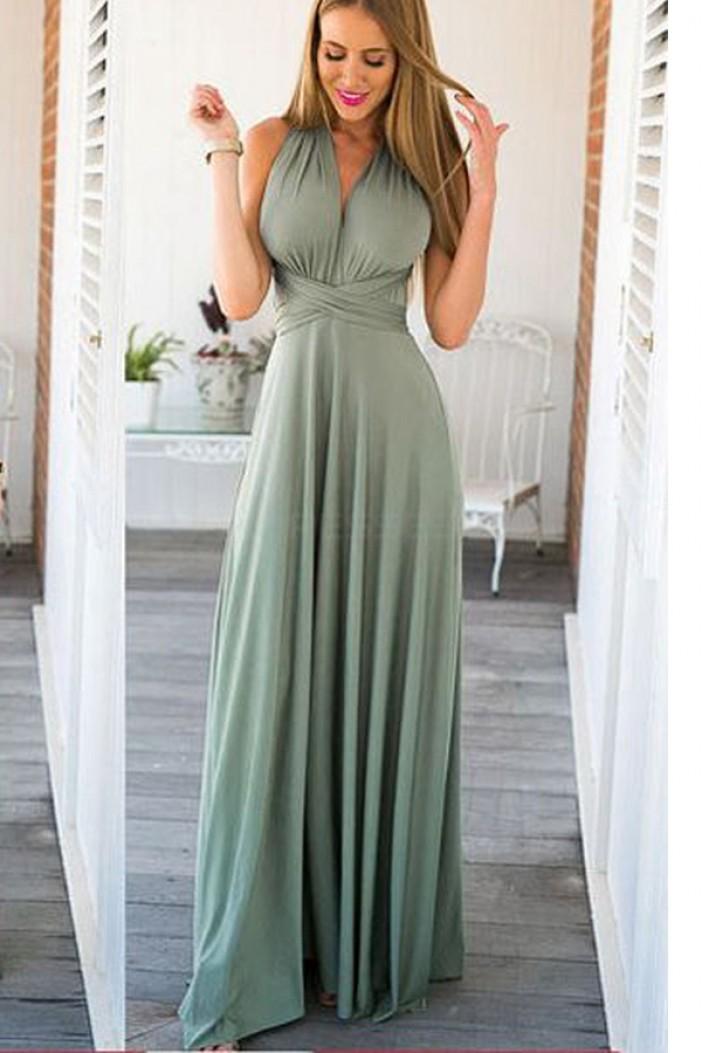 Long Chiffon Criss Cross Prom Formal Evening Party Dresses 3021468