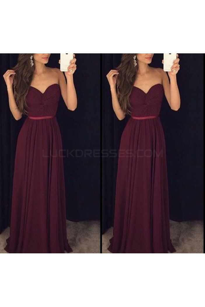 Long Chiffon Sweetheart Prom Formal Evening Party Dresses 3021471