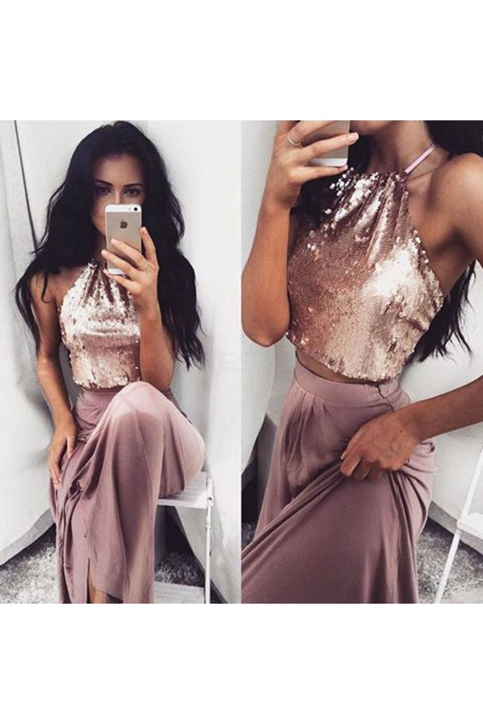 Two Pieces Sequins Prom Formal Evening Party Dresses 3021473