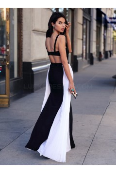 Long Black White Prom Formal Evening Party Dresses 3021477