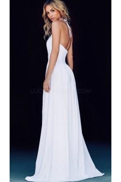 Long Black Halter Prom Formal Evening Party Dresses 3021506