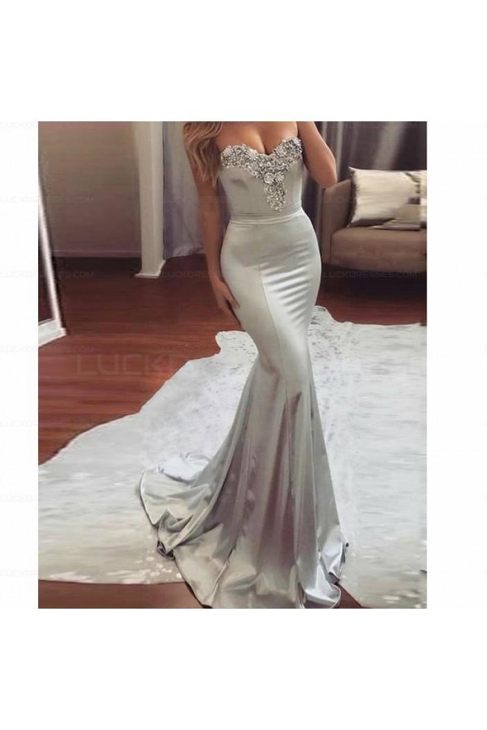 Mermaid Beaded Long Prom Dresses Evening Party Dresses 3021530