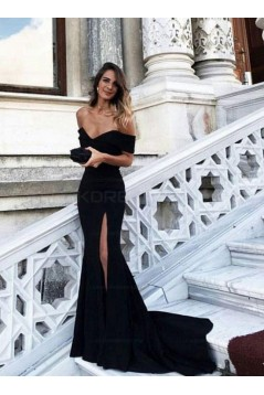Mermaid Prom Dresses Long Off-the-Shoulder Evening Party Dresses 3021534