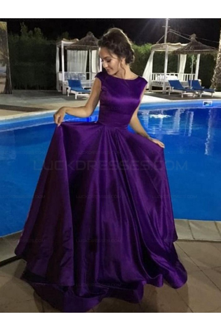 Elegant Ball Gown Prom Dresses Satin Evening Party Gowns 3021539