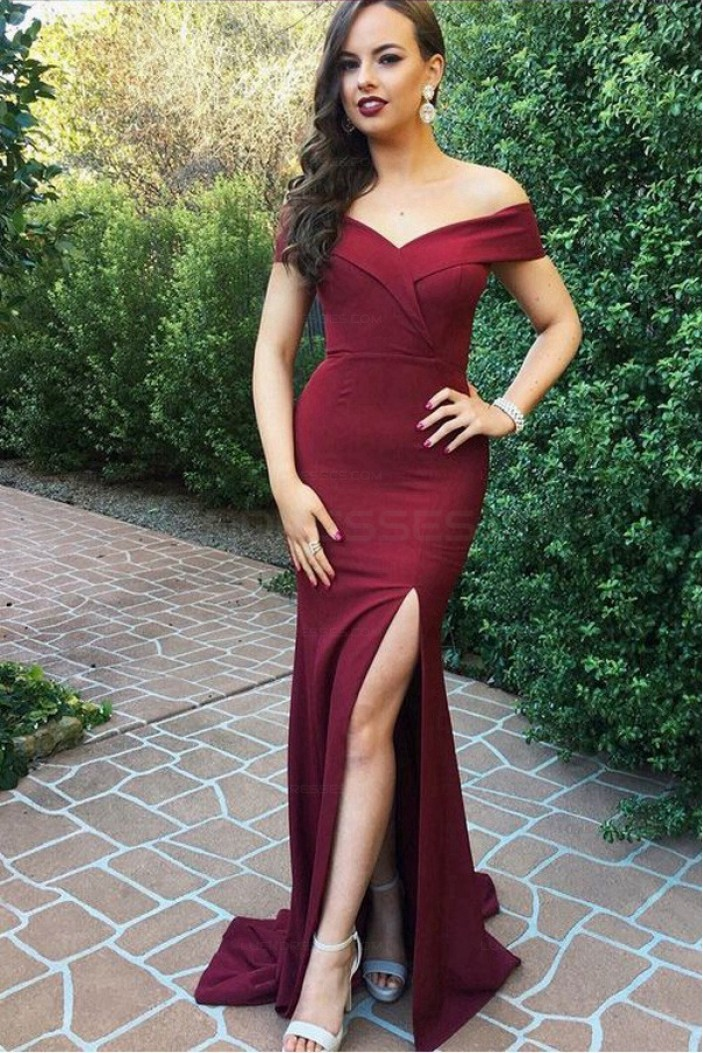 Elegant Mermaid Off-the-Shoulder Long Prom Evening Formal Dresses 3021545