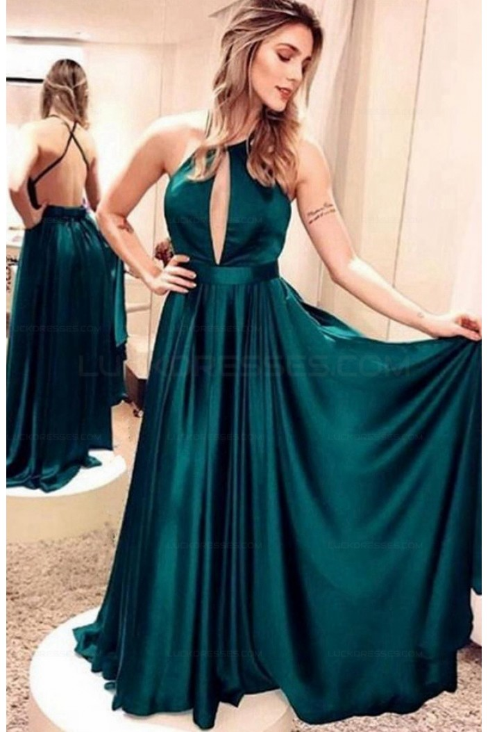 A-Line Backless Long Prom Evening Formal Dresses 3021558