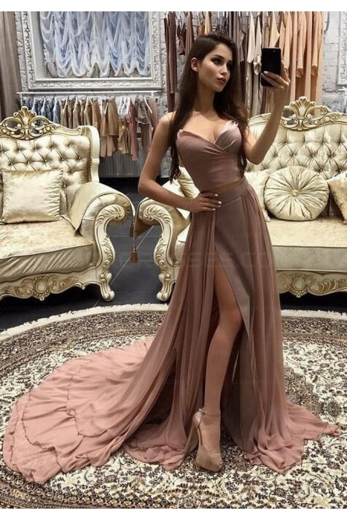 Sheath Sweetheart Long Prom Evening Formal Dresses with Slit 3021560