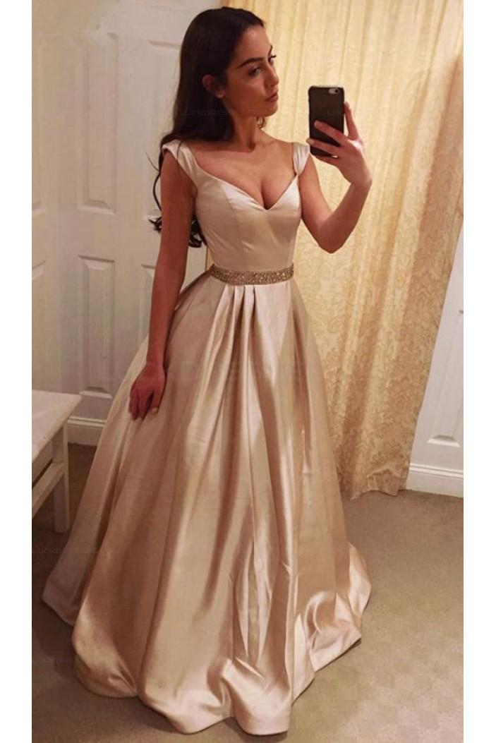 Mermaid V-Neck Sequins Long Prom Evening Formal Dresses 3021561