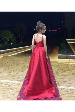 Ball Gown O-Neck Long Prom Evening Formal Dresses 3021562