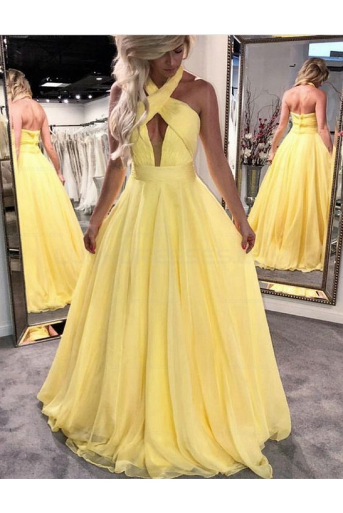 Long Prom Dresses Halter Evening Party Dresses 3021580