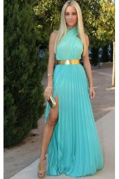 Side Split Long Chiffon Prom Evening Formal Dresses 3020160