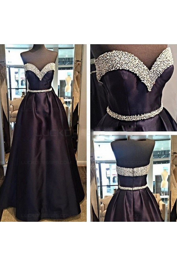Beaded Sweetheart Long Prom Dresses Evening Gowns 3020196