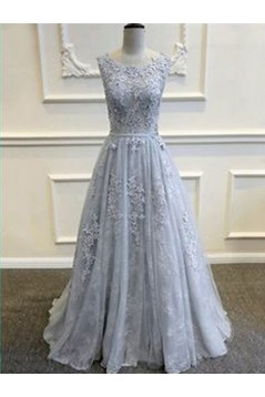A-Line Lace Long Prom Dresses Party Evening Gowns 3020256