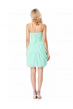 Short Mint Green Chiffon Prom Dresses Party Evening Gowns 3020293