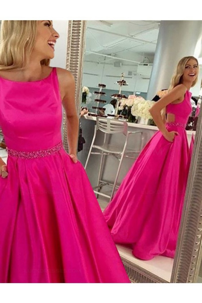A-Line Beaded Long Prom Dresses Party Evening Gowns 3020315
