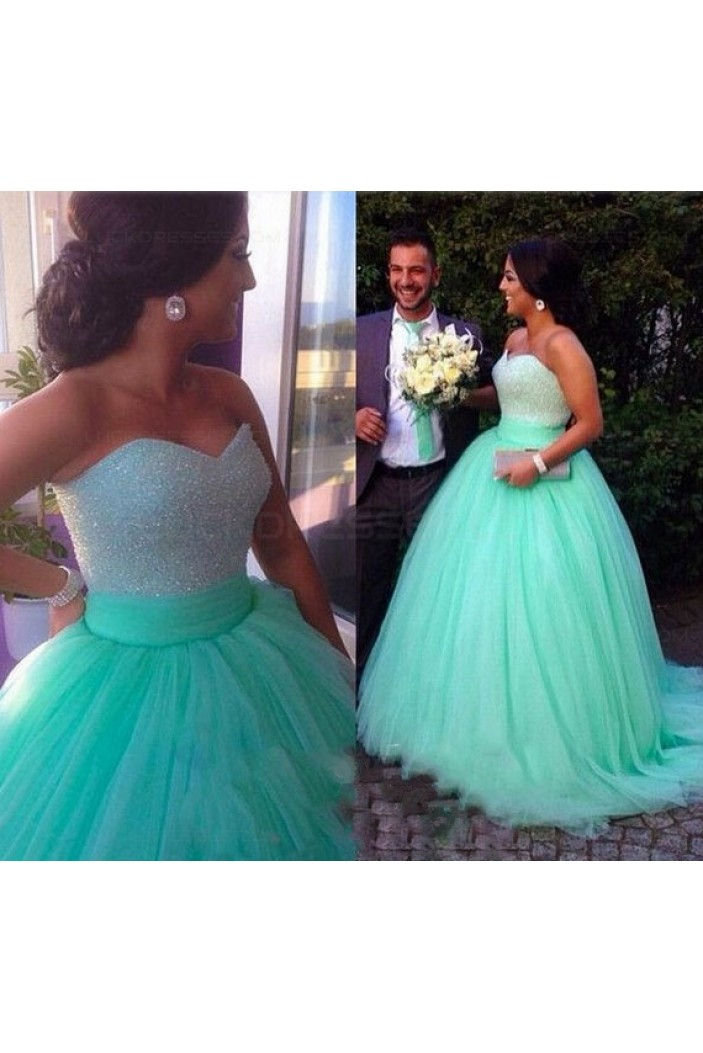 Ball Gown Sweetheart Mint Tulle Prom Dresses Party Evening Gowns 3020341