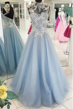 High Neck Long Prom Dresses Party Evening Gowns 3020348