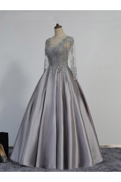 Ball Gown V-Neck Lace Appliques Prom Dresses Party Evening Gowns 3020350