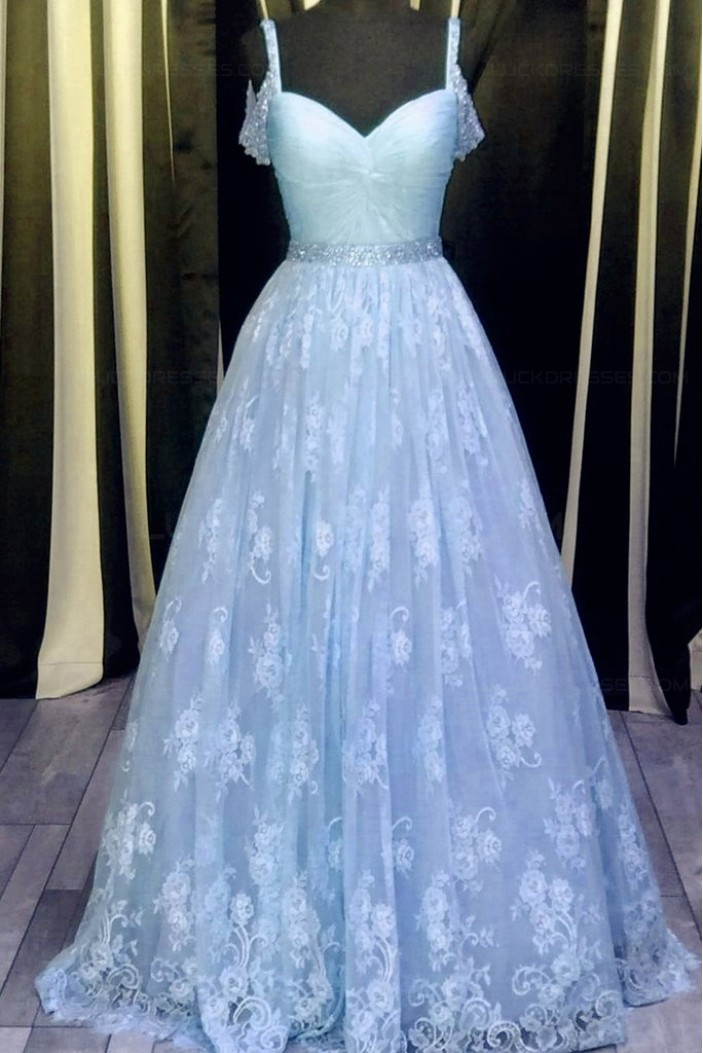 Beaded Lace Long Prom Dresses Party Evening Gowns 3020354