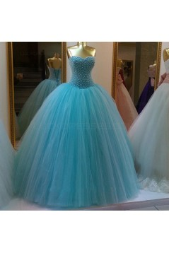 Beaded Tulle Ball Gown Prom Dresses Party Evening Gowns 3020396