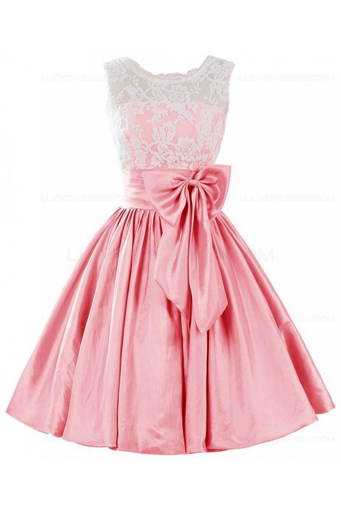 A-Line Lace Short Prom Dresses Party Evening Gowns 3020409