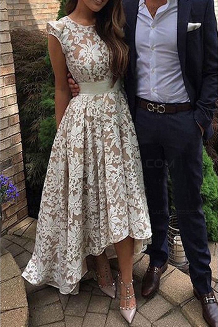High Low Lace Prom Dresses Party Evening Gowns 3020451