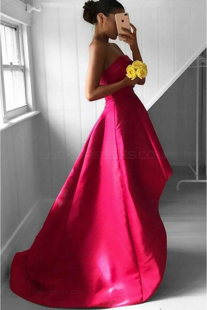 High Low Strapless Prom Dresses Party Evening Gowns 3020471