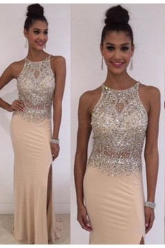 Sheath Beaded Long Prom Dresses Party Evening Gowns 3020476