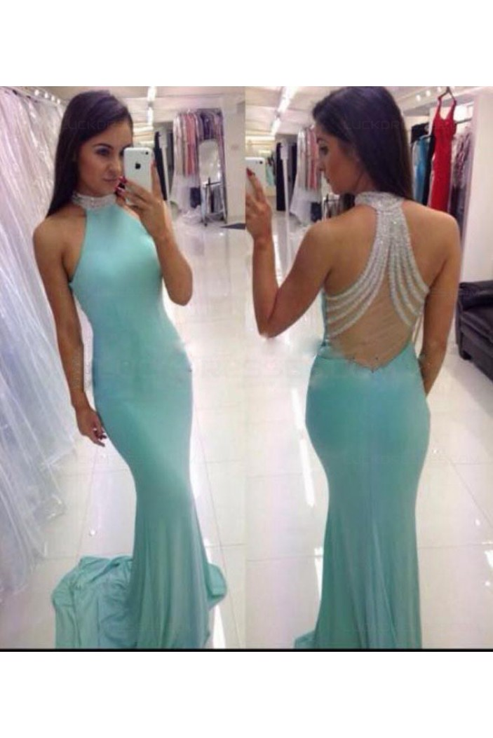 Mermaid Beaded Long Prom Dresses Party Evening Gowns 3020477