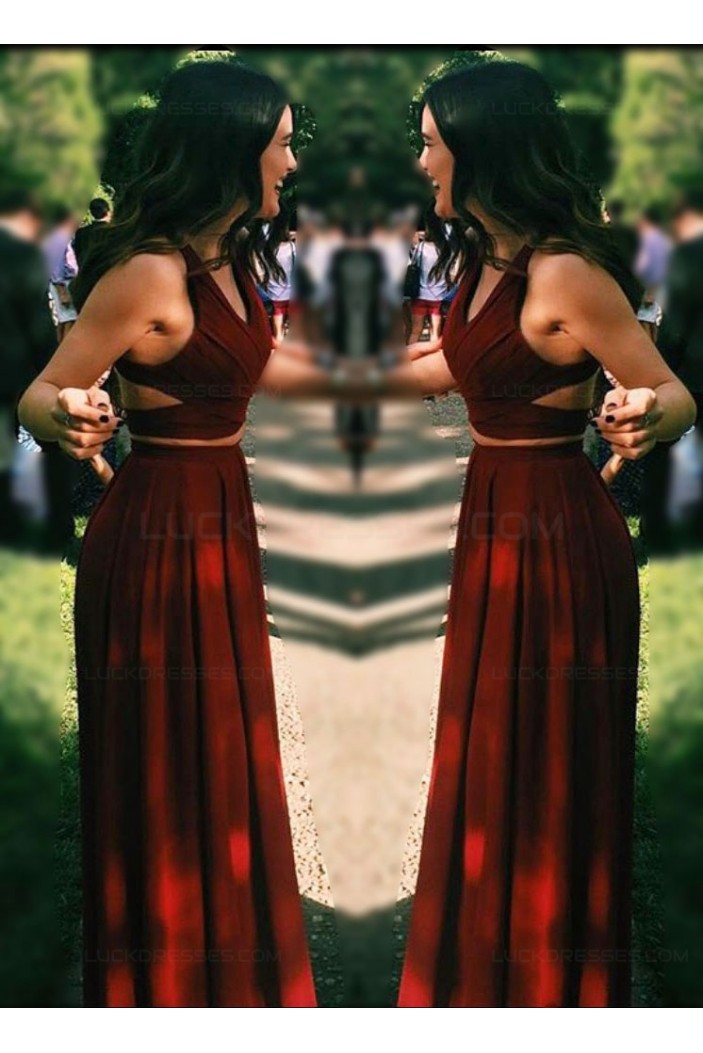 Two Pieces Long Prom Dresses Party Evening Gowns 3020482