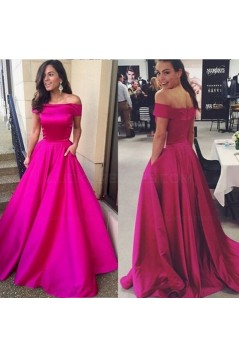 A-Line Off-the-Shoulder Long Prom Dresses Party Evening Gowns 3020495