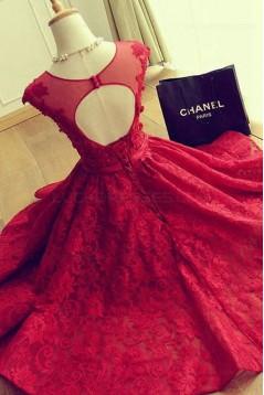 Short Burgundy Lace Keyhole Back Homecoming Cocktail Prom Dresses 3020532