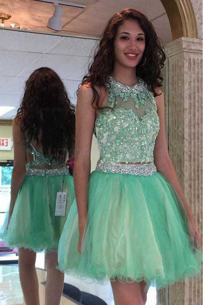Beaded Lace Tulle Homecoming Cocktail Prom Dresses Party Evening Gowns 3020538