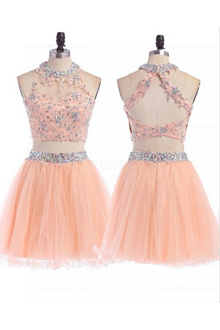 Beaded Lace Tulle Homecoming Cocktail Prom Dresses Party Evening Gowns 3020543