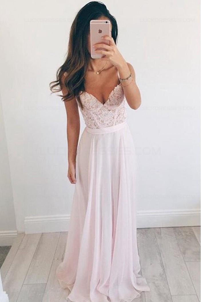 Long Chiffon Lace Prom Party Dresses 3020560