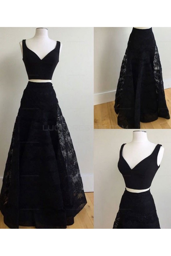 Two Pieces Lace Long Prom Evening Dresses 3020579