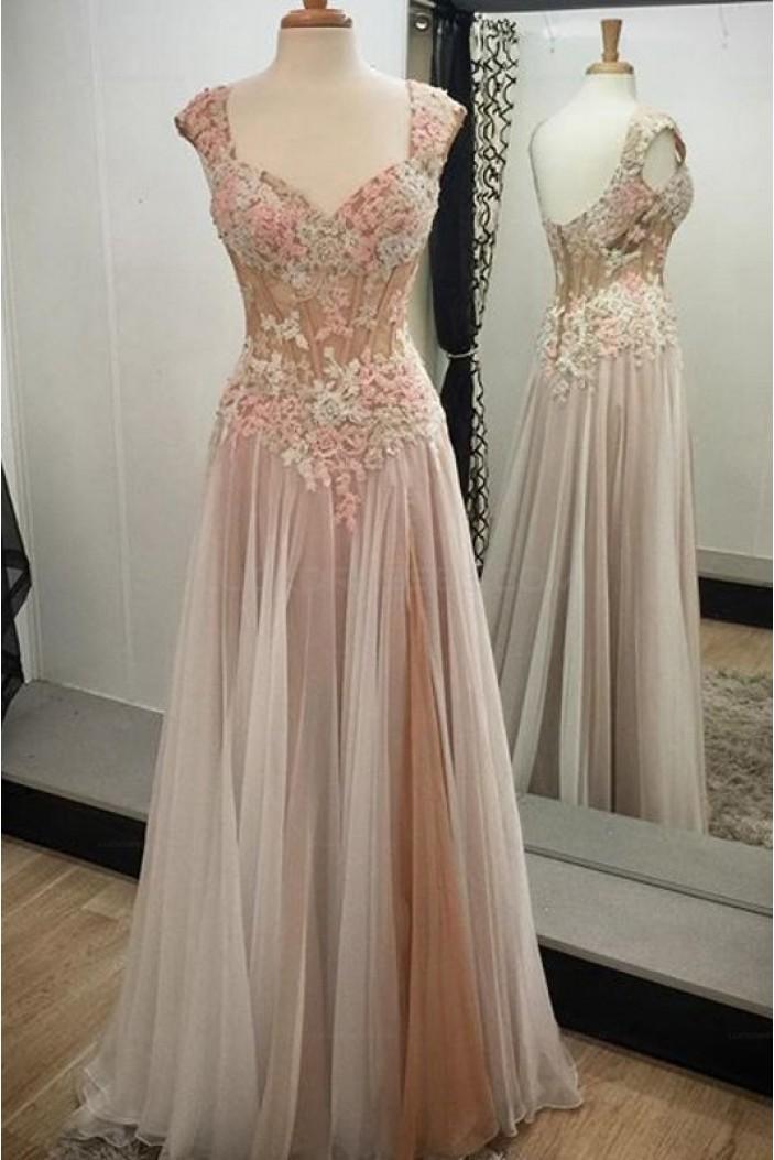 Elegant Sleeveless Long Prom Evening Dresses 3020597