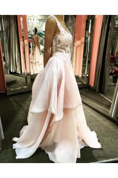 Sexy V-Neck Long Prom Evening Dresses 3020603