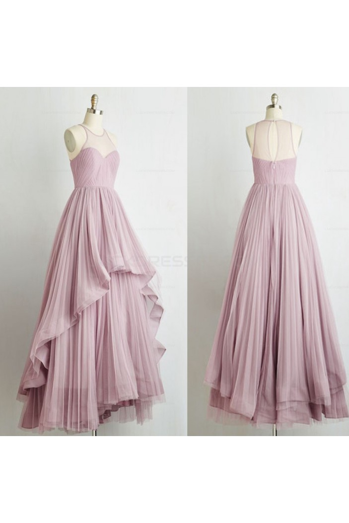 Long Pleated Prom Evening Party Dresses 3020617
