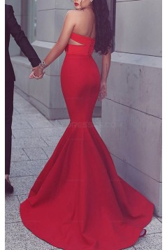 Long Red Mermaid Sweetheart Prom Evening Party Dresses 3020630