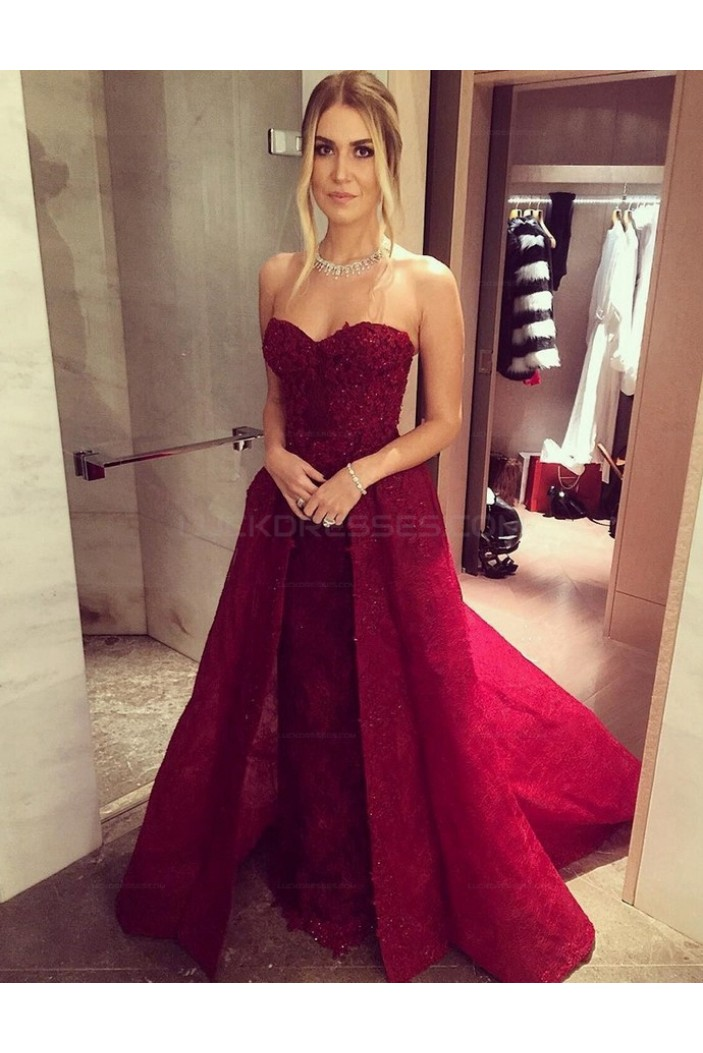 Lace Long Sweetheart Prom Evening Party Dresses 3020632