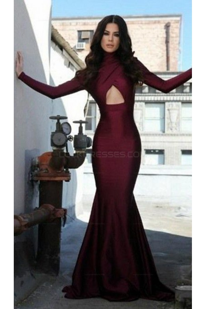 Mermaid Long Sleeves Prom Evening Party Dresses 3020670