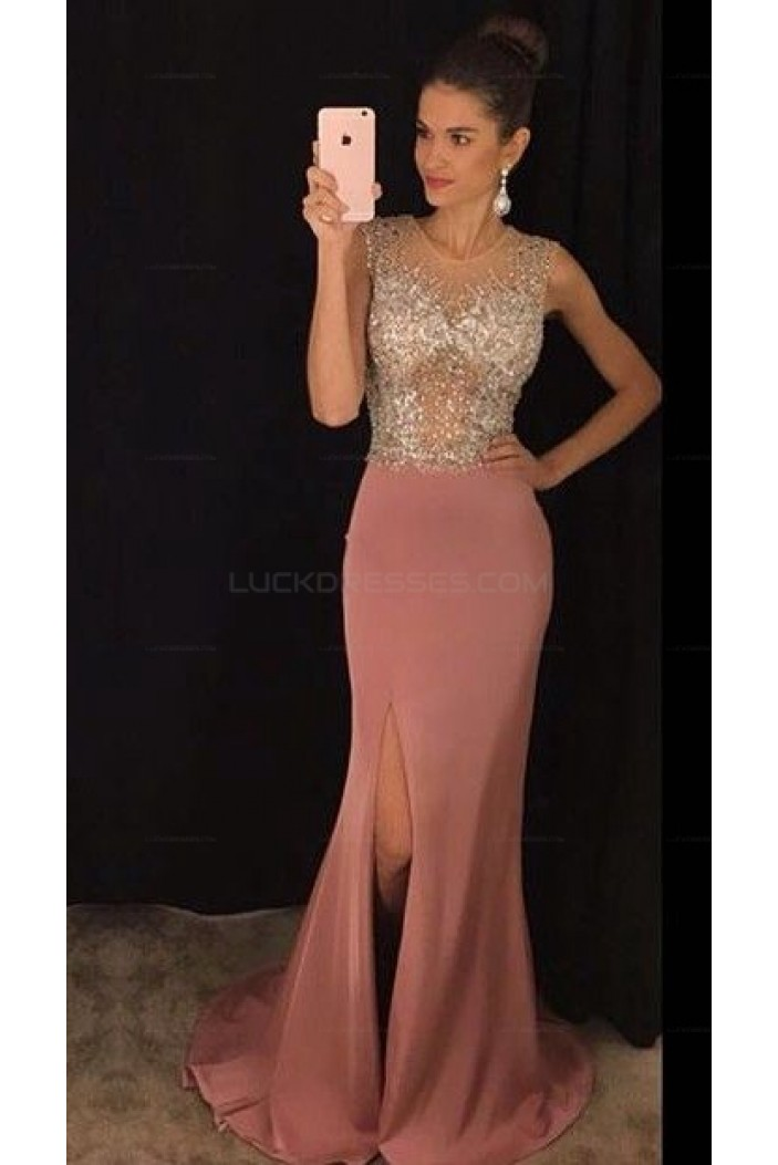 Mermaid Beaded Long Prom Evening Party Dresses 3020679