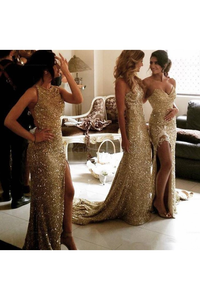 Sequins Long Prom Evening Party Bridesmaid Dresses 3020692