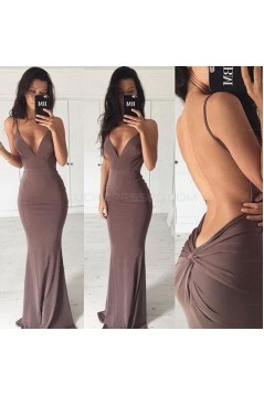 Sexy Backless Mermaid V-Neck Long Prom Evening Party Dresses 3020694