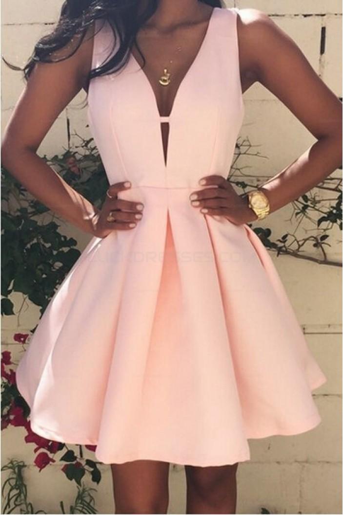 A-Line V-Neck Short Prom Homecoming Graduation Dresses 3020698