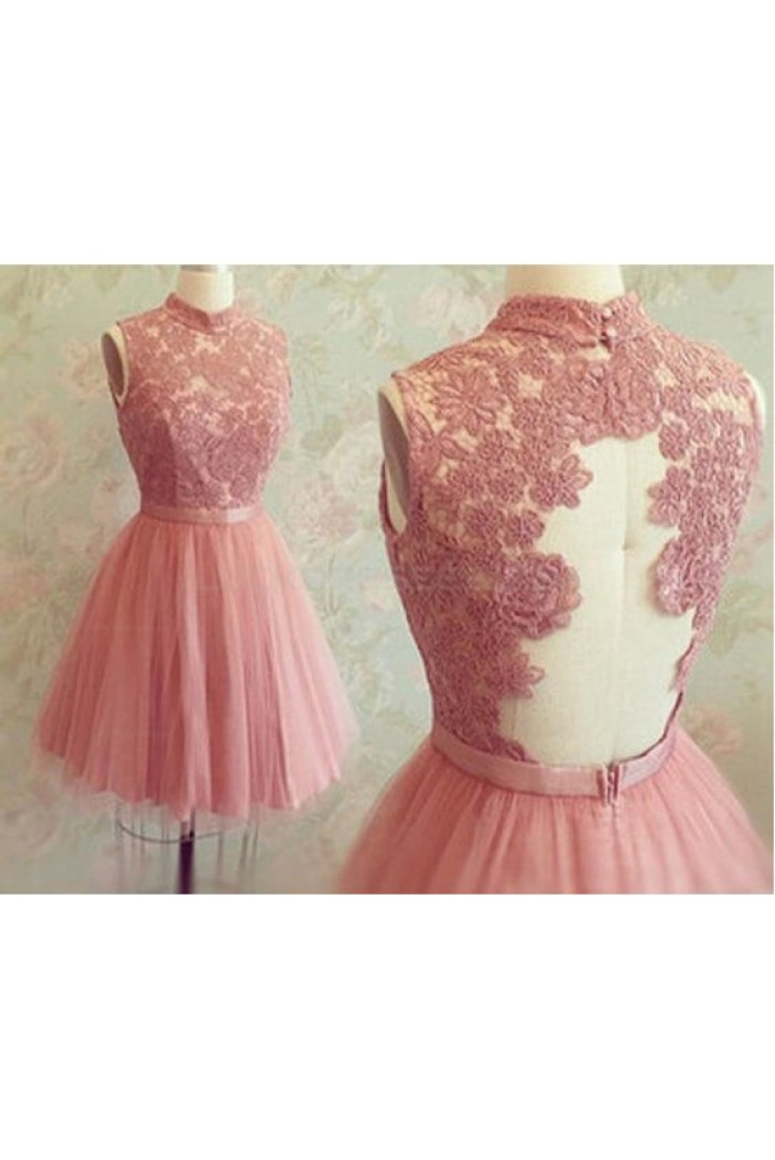 Short Lace Tulle Prom Homecoming Graduation Party Dresses 3020721