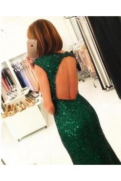 Long Green Sequins Prom Evening Formal Dresses 3020727