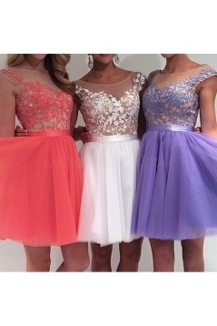 Short Lace Prom Evening Formal Dresses 3020729