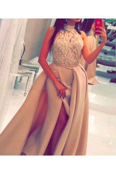High Neck Long Prom Dresses Party Evening Gowns 3020737